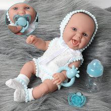 Boneca reborn bebê 30cm, boneca realista de simulação, 12 polegadas, à prova d' água, silicone, adorável, recém-nascido, garrafa de alimentação, moda, roupas, brinquedos