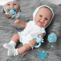 30cm Simulation lifelike bebe reborn doll 12 inch waterproof Silicone lovely newborn baby Feeding bottle Fashion clothes toys