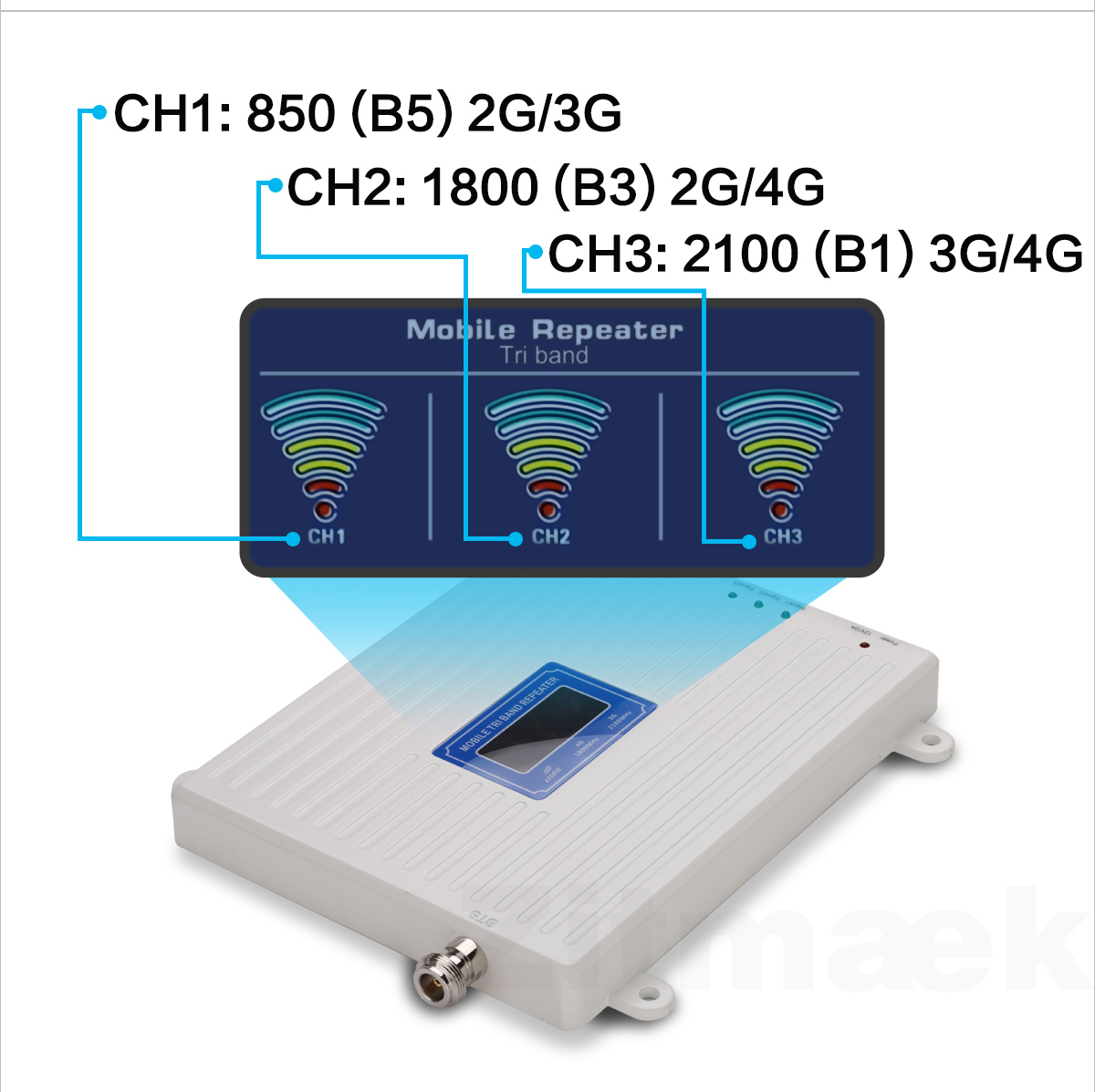 Israel Repeater Gsm 2g 3g 4g Signal Amplifier 4g LTE 850 1800 2100 Communication Amplifier 4g Antenna Signal Repeater Cell Phone