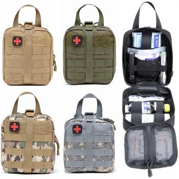 Piesze wycieczki EDC Molle taktyczna torba typu worek awaryjna apteczka pierwszej pomocy przetrwać zestaw pakiet podróży odkryty Camping wspinaczka zestawy medyczne torba tanie i dobre opinie CN (pochodzenie) Zestawy pierwszej pomocy survival set Tactical first aid kit first aid bag