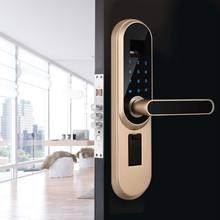 NEW Digital Intelligent Biometric Fingerprint password smart lock Smart Door Lock Hand Fingerprint High Recognition Control