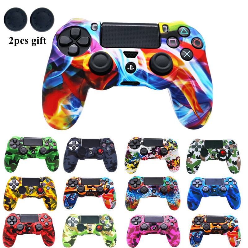 Silicone Protection Case For SONY Playstation 4 PS4 Controller Rubber Protective Skin Cover for PS 4 Joystick Gamepad Cap cases