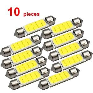 10x C5W Car LED COB Bulb Interior Reading Light Festoon LED Super Bright Auto Dome License Plate Luggage Trunk Lamp 31mm 36mm(China)