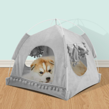 Pet Tent Portable Folding Dog Cat House Bed Indoor Outdoor Teepee