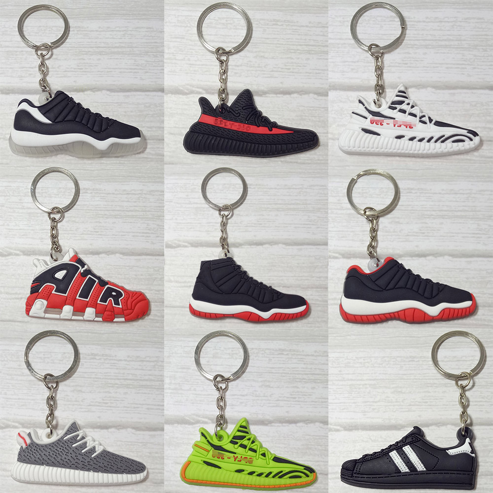 Mini Silicone Keychain Llaveros Key Chain Ring Bag Charm Key Holder Porte Clef Marvel Llavero Shoe Chaveiro