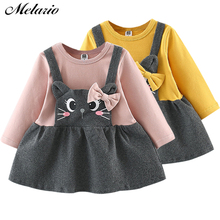 Melario Baby Dress Autumn baby girl dress full Sleeve Princess Kids Clothes Cat Print winter clothes
