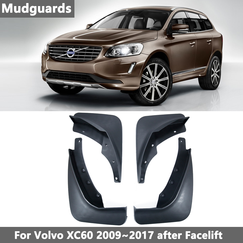 Car Mud Flaps For <font><b>VOLVO</b></font> <font><b>XC60</b></font> 2009-2017 Mudflaps 2010 2011 2012 2013 2014 2015 <font><b>2016</b></font> 2017 Splash Guards Mud Flap Mudguards Fender image
