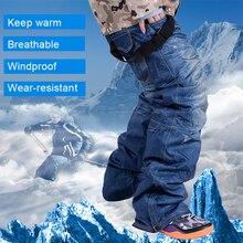Брюки для катания на лыжах Мужские дышащие теплые лыжные брюки для сноуборда джинсовые подтяжки ветрозащитные водонепроницаемые уличные спортивные лыжные брюки