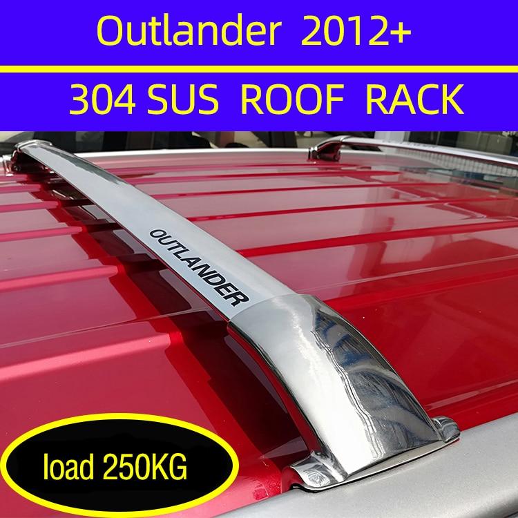 2 шт. Крыши Баров для Mitsubishi Outlander 5 дверь SUV 2012-2020 алюминиевый сплав боковые полосы поперечные рельсы багажник на крышу багаж