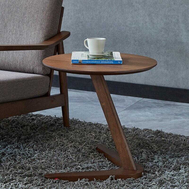 Muebles de mesa lateral para el hogar, mesa de centro redonda para sala de estar, mesita de noche pequeña, mesa de diseño, mesa auxiliar minimalista, escritorio pequeño