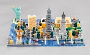 Image 2 - Weagle 2550 New York City สถาปัตยกรรมอนุสาวรีย์เทพีเสรีภาพ Empire State Building 3D DIY เพชรขนาดเล็กบล็อกของเล่นไม่มีกล่อง