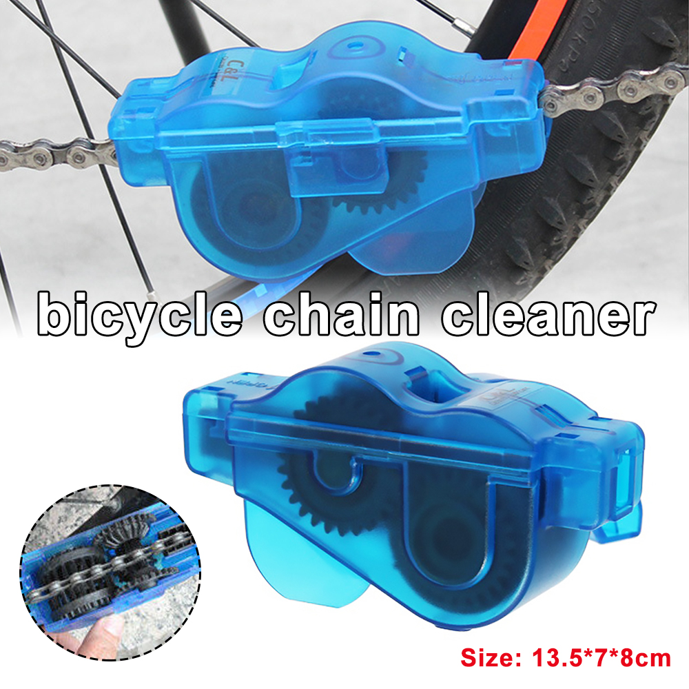 Bicycle Chain <font><b>Cleaner</b></font> Portable Mountain Bike Clean Machine <font><b>Brushes</b></font> MTB Road Bike Cycling Cleaning Kit Outdoor Sports Wash Tools image