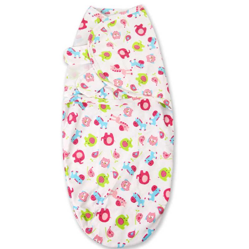 0-3 monate 100% Baumwolle Baby Swaddle Wrap Decke Neugeborenen Baby Schlagen Schlaf Tasche Schlafsack Mantas Para Bebe KF679