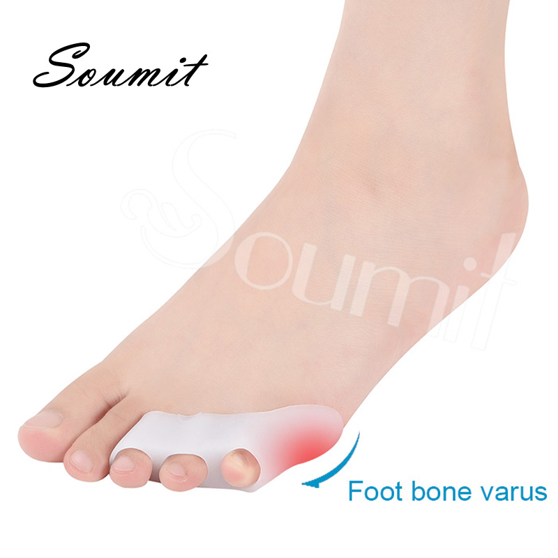 1 Pair Silicone Gel Toe Separator Insoles For Women High Heels Side Pain Relief Orthopedics Protector Shoe Sole Plantillas