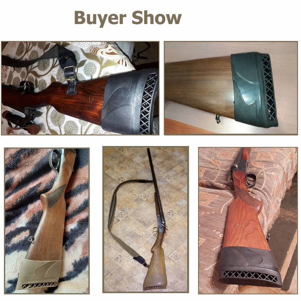 Hunting Shooting Gun Rifle Shotgun Non-Slip Butt Stock Rubber Recoil Pad 1PC