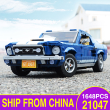 Forded Mustanged 21047 LEGOEDS Creator Expert Technic Compatible 10265 Car Model Kit Building Blocks Bricks Kids Toys DIY Gifts 945pcs creator expert winter holiday toy shop 39015 diy model building kit blocks gifts children toys compatible with lego