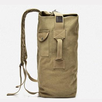 Backpack Travel Bag High Capacity Outdoors Men Canvas Field Survival Picnic Traveling Backpack 4