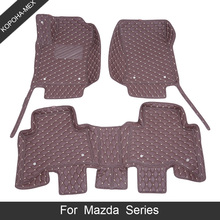 Car-Floor-Mats CX-5 MX-5 CX-9 Mazda CX-8 Tribute CX-3 for Demio 2-3/Bk/Axela/.. Luxury