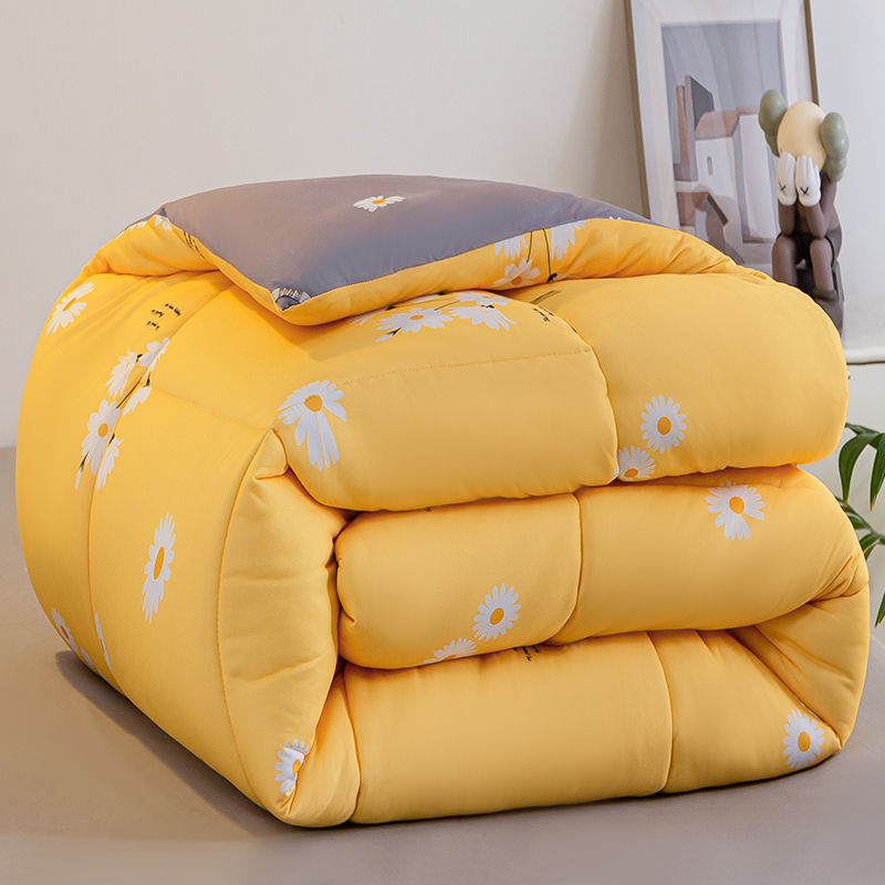 Ingenious New Luxury Quilt Feather Silk Fabric Super King Queen Soft Winter Blanket Comforter Quilts Air Conditioning Core Duvet 150 180cm Fragrant (In) Flavor