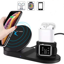 Tongdaytech 10 Вт Qi Беспроводное зарядное устройство для Iphone X XS XR 8 8P 11 Pro Max быстрое зарядное устройство для Apple Watch Airpods Pro 5 4