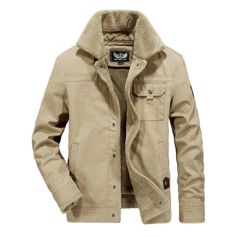 Marke Winter Jacke Männer Dicke Warme Fleece Mantel Männer Jacke Outwear Winter Mantel Männer Windjacke Große Größe 6XL Chaqueta Hombre-in Jacken aus Herrenbekleidung bei  Gruppe 1