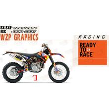 34 rodzaje naklejek nowy motocykl samochód naklejki 3M gruby ulica samochód zmodyfikowany naklejka dla SX SXF EXC 2011 2012 2013 2014 2015 2016 tanie tanio CN (pochodzenie) Naklejki i naklejki 0 8kg 0inch