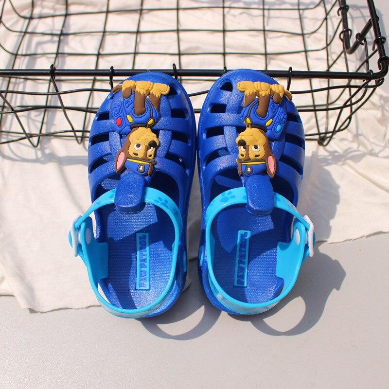 Paw patrol verão chinelos de luz sapatos
