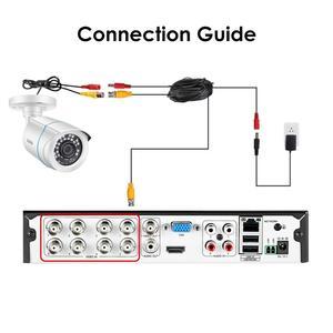 Image 5 - ZOSI 4 PCS Bullet 1080P TVI CCTV וידאו מעקב מצלמה IR Nightvision 2MP videcam אבטחת CCTV כבל מצלמת עבור DVR מערכת