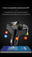 fm tf Car Charger with FM Transmitter Bluetooth 5.0 Receiver Audio MP3 Player TF Card U disk Car Kit Dual USB Car Phone  Fast Charger (5)