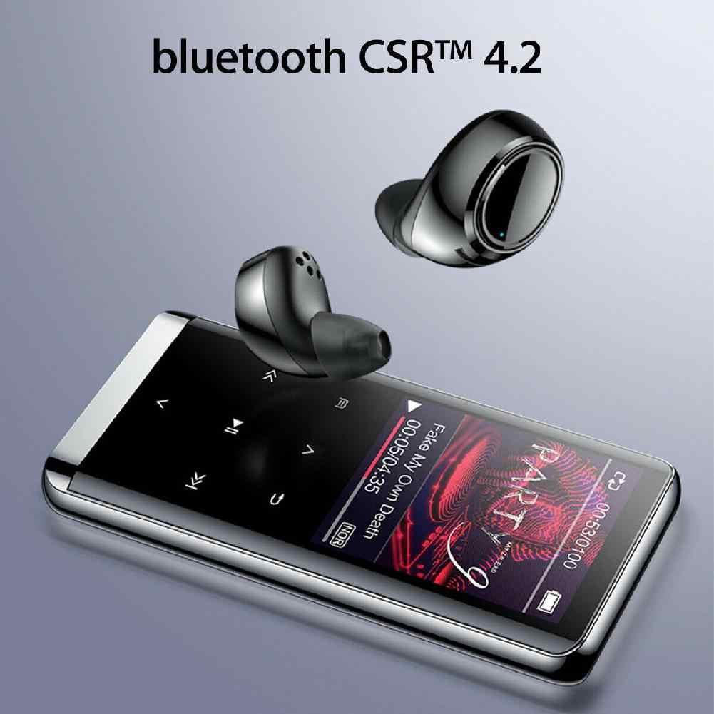 Portable bluetooth MP3 player Mini MP4 Media Wireless Bluetooth MP3 Player HIFI Sport Music Speakers FM Radio Recorder r60