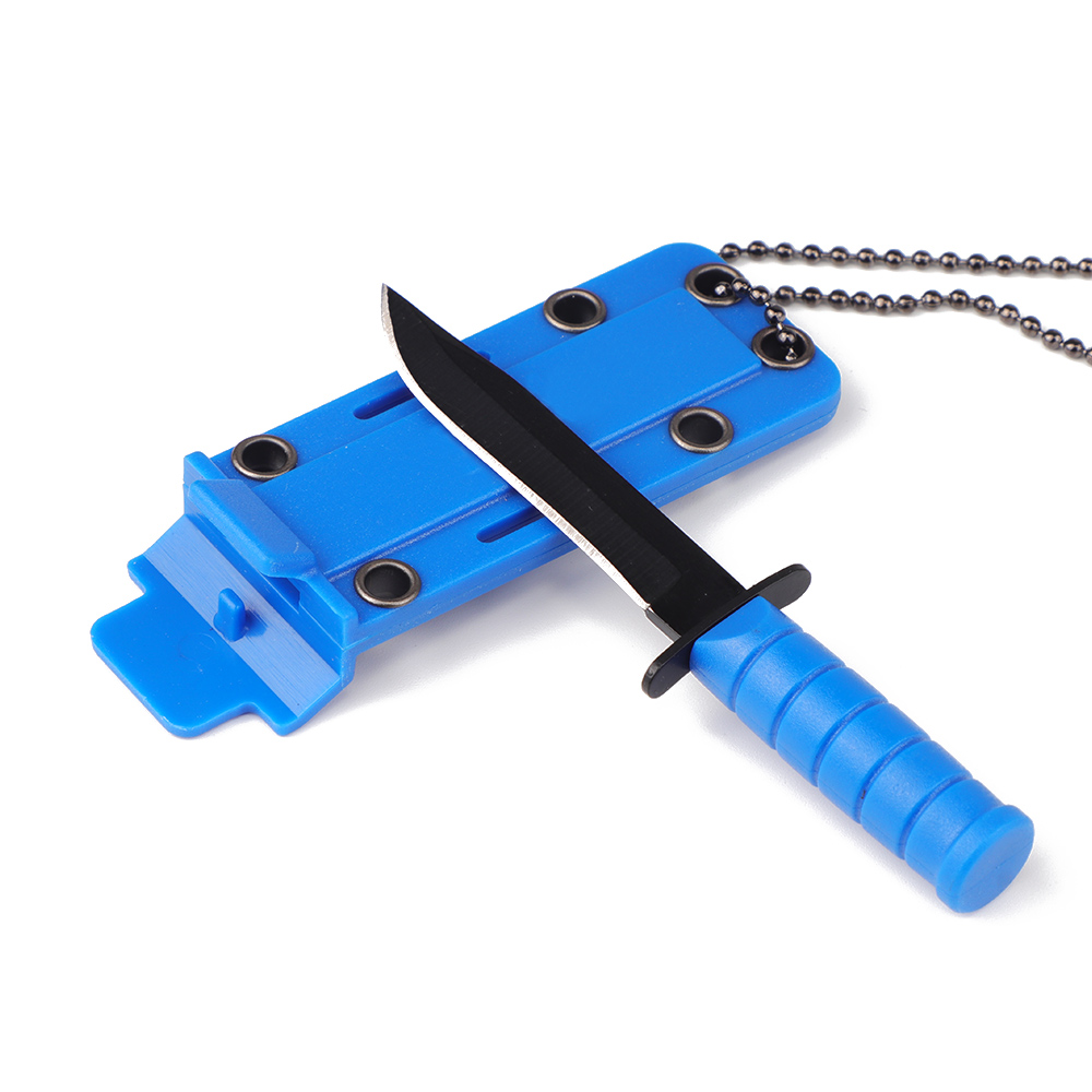 1pcs Small Straight Knife Mini Necklace Knife Small Fruit Knife Outdoor Self-defense First Aid Camping Supplies