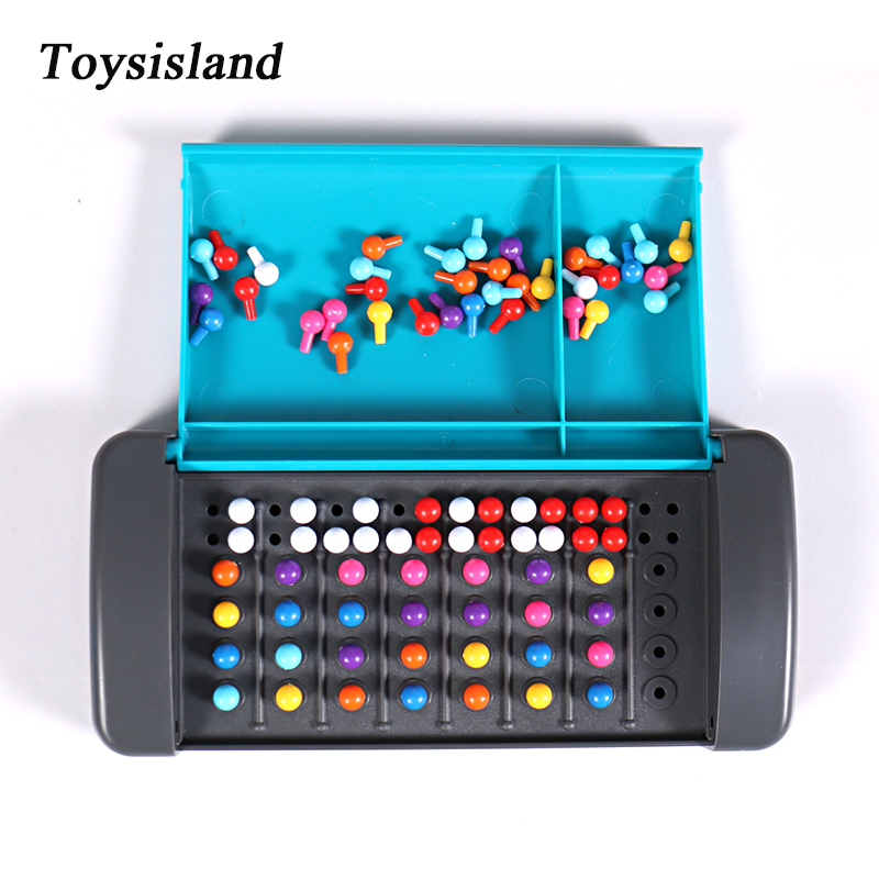 Montessori Educational Toys For Children Mastermind Game Code Breaking Mini Board Toy For Family Traveling