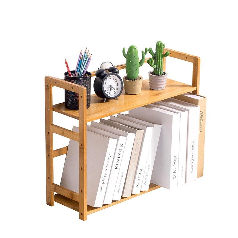 Small Bookshelf Shelf Shelf Creative Students Mini Telescopic Small Office Desktop Storage Shelf
