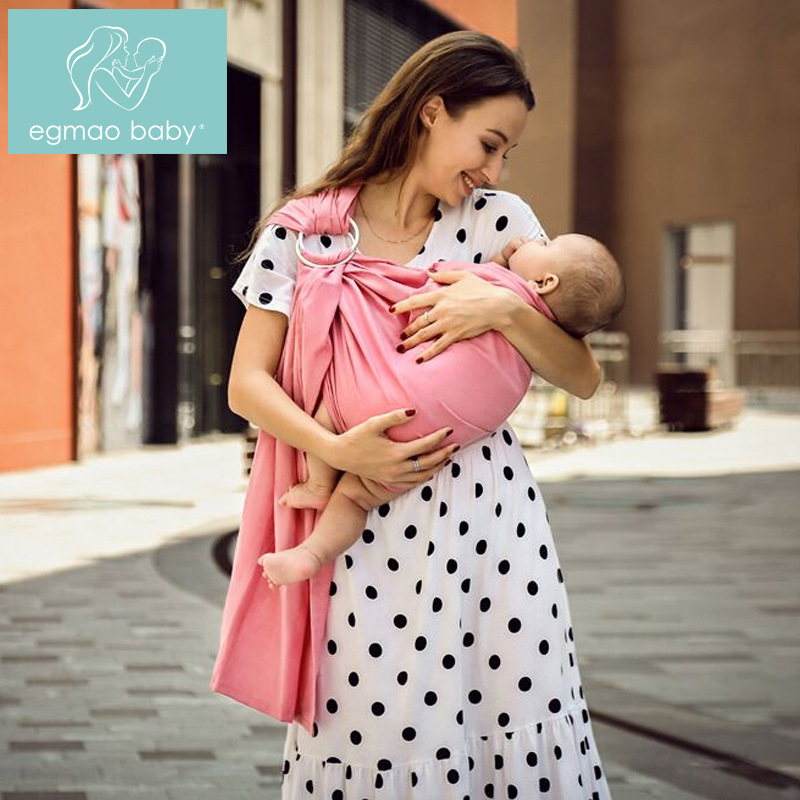 Annulate Cotton Linen Baby Sling Solid Color Multi-functional Baby Bib Multi-Color Infant Baby Carrier Handsfree Sling Newborn