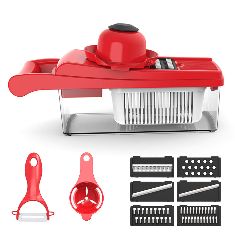 Multifunctional Vegetable Cutter Kitchen Tools Accessories Slicer Slice and shred Manual Grater Fruit Potato Chips Practical