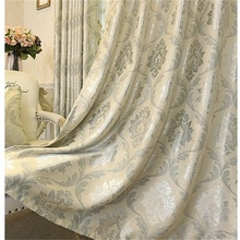 European Luxury Jacquard Curtains for Living Room Beige Drapes Window Panel Fabric High Shading Curtain for Bedroom wholesale high precision european style jacquard curtain fabric for living room bedroom blackout thermal insulation curtain