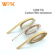 100Pcs 1/6W Carbon Film Resistor Sets 0R-22M 5% Tolerance 1.3R 3.3R 6.2R 10R 15R 20R 27R 30R 39R 10 Ohm Resistance Electronics