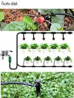 Sistema de irrigação por gotejamento automático de 30m micro kits de rega do pulverizador da irrigação do jardim com dripper ajustável