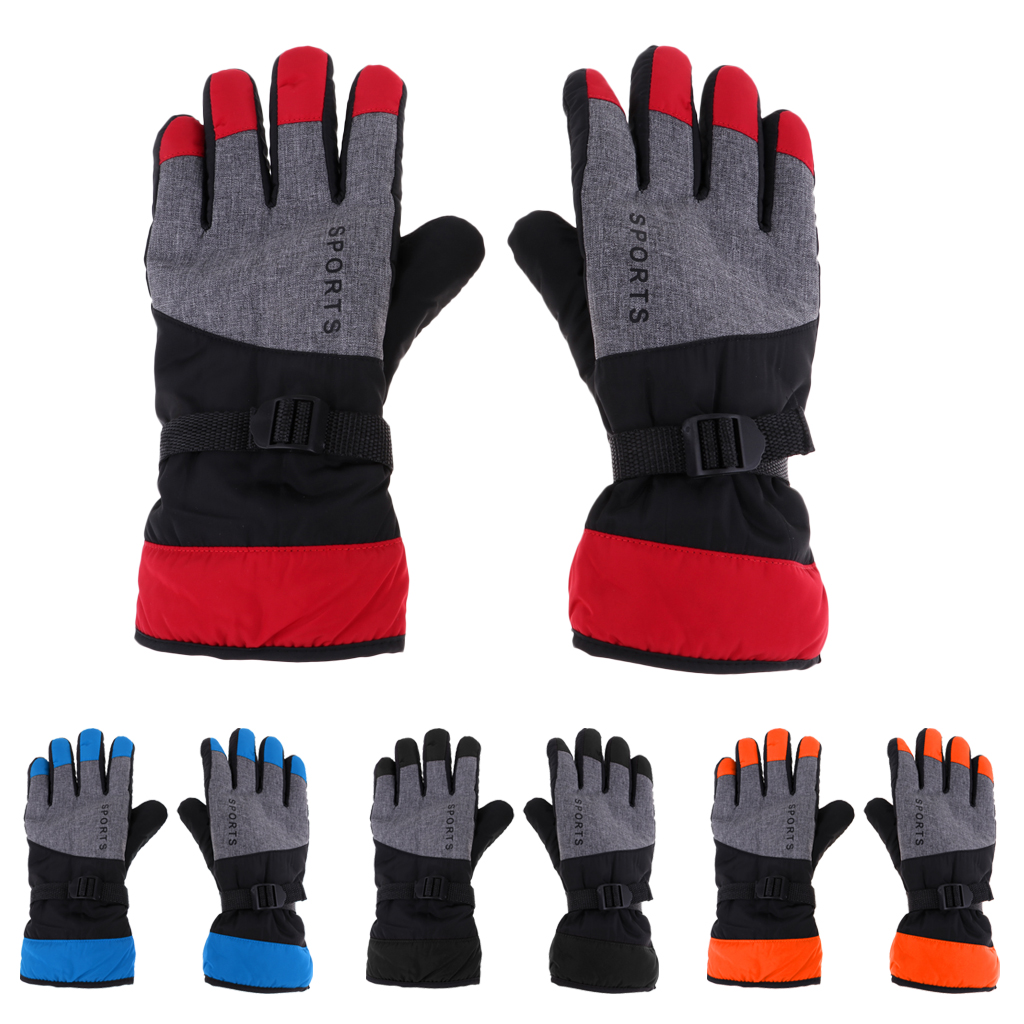 Motorbike MTB Gloves Winter Thermal Insulation Five Finger Cycling Mittens Winter Skiing Snowboard Gloves