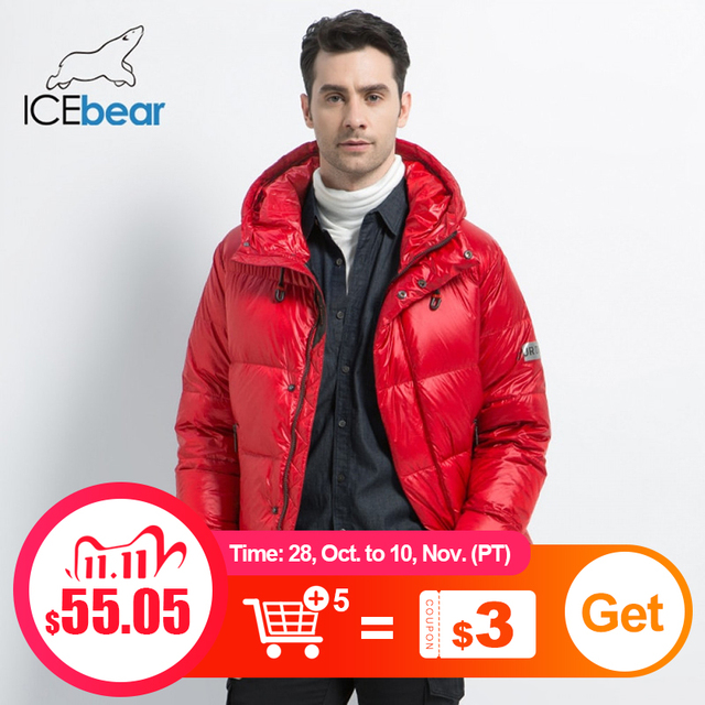 Icebear 2019 新冬メンズダウンジャケットスタイリッシュな男性ダウンコート厚く暖かい男服ブランドのメンズアパレルMWD19867I