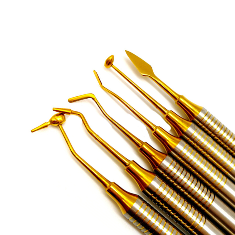 6 шт. зубная композитная смола, наполнитель шпатель с титановым покрытием, набор наполнителя из смолы, набор для восстановления толстой ручк...