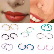 Jewelry Earrings Hoop C-Clip Lip Piercing Fake Women Sexuality Burun