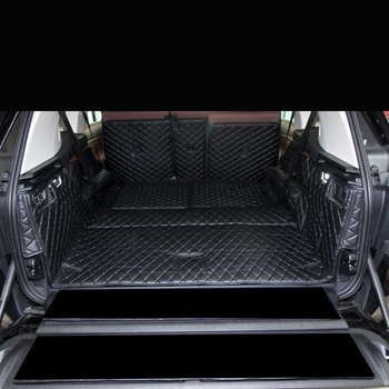 lsrtw2017 leather car trunk mat cargo liner for bmw x7 2018 2019 2020 accessories boot luggage rug carpet covers