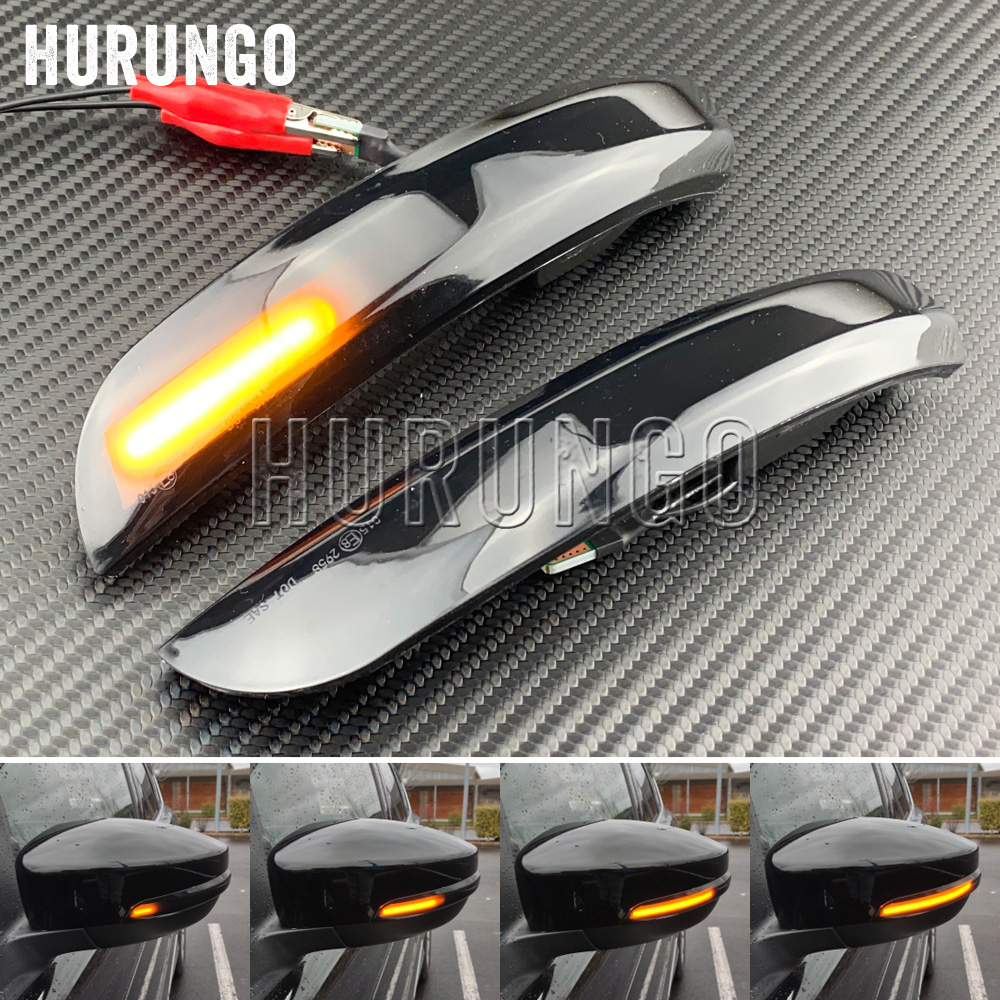 2 Pieces Dynamic Blinker LED Turn Signal Lights Side Mirror Indicator For Ford Escape Kuga II EcoSport 2013 - 2019