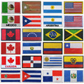 Флаги Америки, Мексика, Пуэрто-Рико, Аргентина, США, Канада, Бразилия, Сальвадор, вышитые нашивки, значки, оптовая продажа
