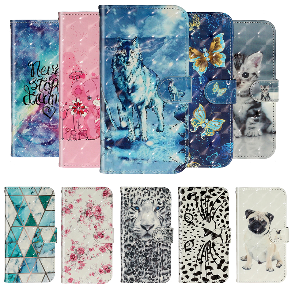 Cartoon Fashion <font><b>Case</b></font> For <font><b>OPPO</b></font> A1K Realme 2 C1 C2 <font><b>A3S</b></font> AX5 A5 A11X A11 A7 AX7 A5s AX5s Leather <font><b>Phone</b></font> Cover For <font><b>OPPO</b></font> A9 2020 <font><b>Case</b></font> image