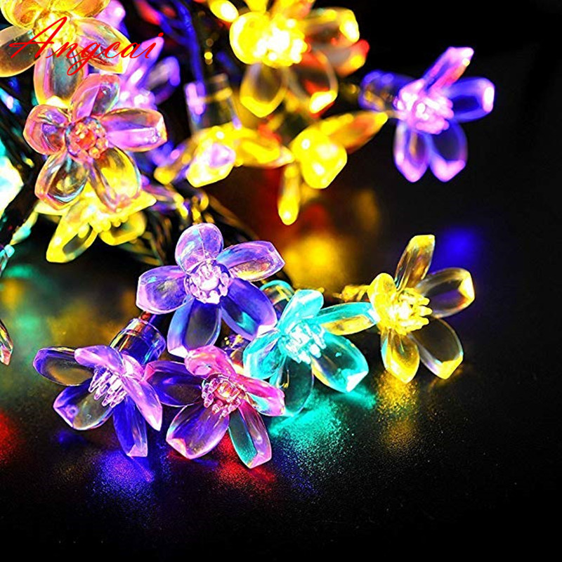Battery USB Operated Twinkle Star Sakura String Fairy Novelty Lights LED Flower Christmas Home Garland Wedding Party Bedroom