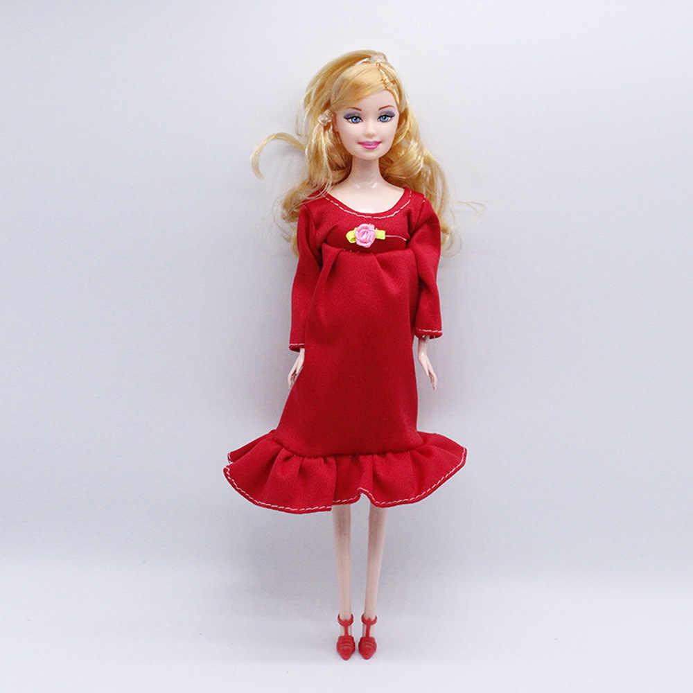 2019 Baru Pendidikan Nyata Hamil Boneka Cocok untuk Ibu Boneka Memiliki Bayi Di Perutnya untuk 1/6 Mainan Anak Perempuan Terbaik hadiah