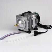 Novo aquário eletromagnética compressor de ar 70l/min 45 w tanque de peixes bomba de ar aumentando bomba de oxigênio hailea ACO-318