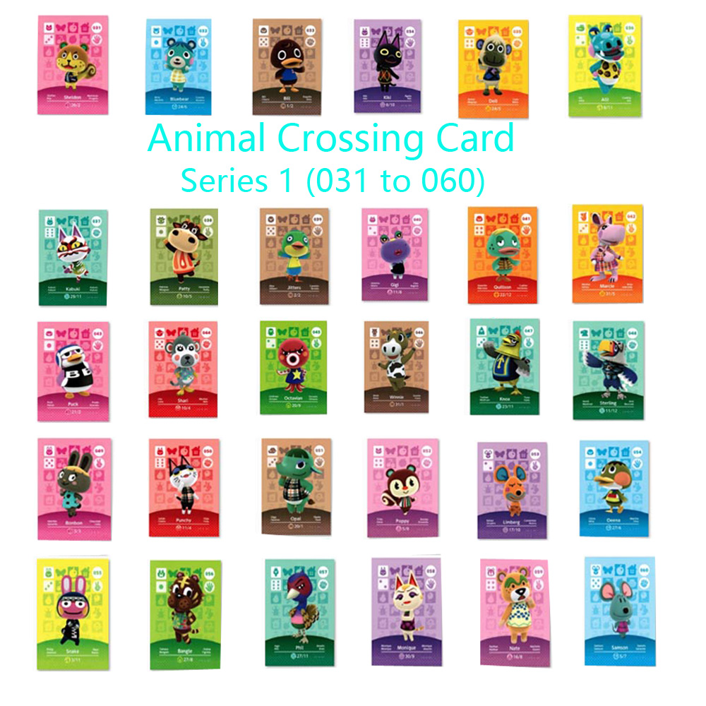 Animal Crossing Card Series 1 (031 To 060) Amiibo Locks Nfc Card Work For NS Games